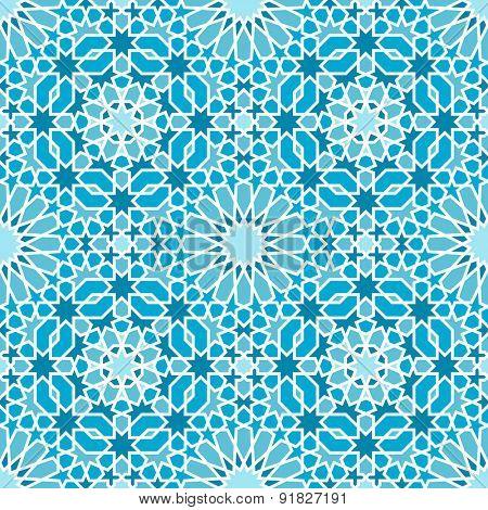 Oriental seamless mosaic pattern