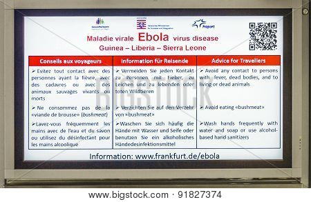 Advice For Travellers  How To React To Avoid Ebola
