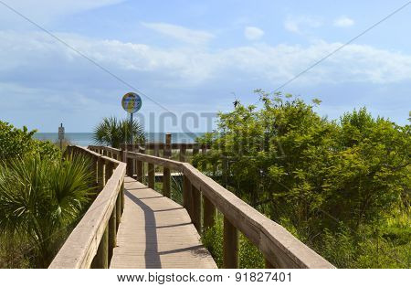Boardwalk entrance to St Pete Beach Florida