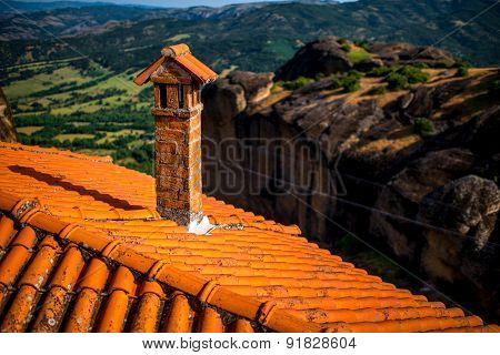 Roof of the Holy Monastery in Greece