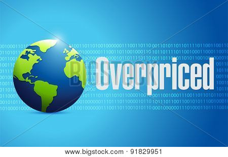 Overpriced International Globe Sign