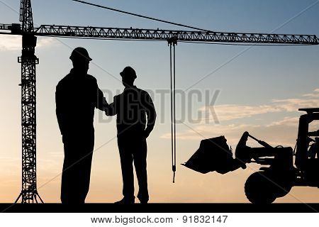 Two Architect Shaking Hand