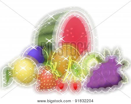 Fruits Glowing Background