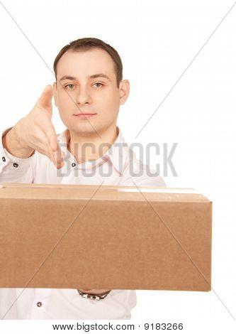 Businessman With Parcel