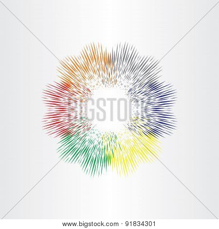 Color Explosion Fireworks Background