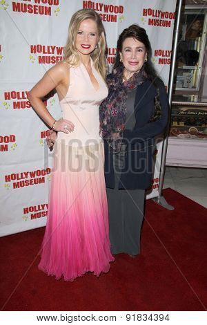 LOS ANGELES - MAY 27:  Crystal Hunt, Donelle Dadigan at the Missing Marilyn Monroe Images Unveiled at the Hollywood Museum  on May 27, 2015 in Los Angeles, CA
