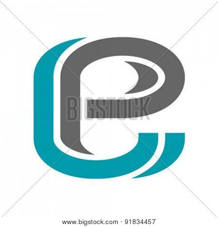 vector decorative letter e icon