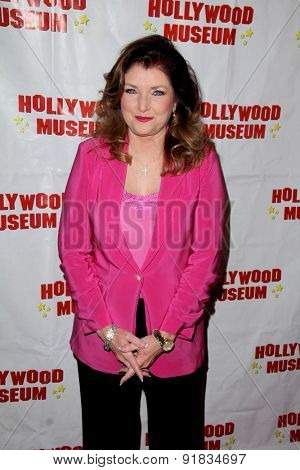 LOS ANGELES - MAY 27:  Morgan Brittany at the Missing Marilyn Monroe Images Unveiled at the Hollywood Museum  on May 27, 2015 in Los Angeles, CA