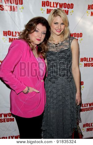 LOS ANGELES - MAY 27:  Morgan Brittany, Katie GIll at the Missing Marilyn Monroe Images Unveiled at the Hollywood Museum  on May 27, 2015 in Los Angeles, CA