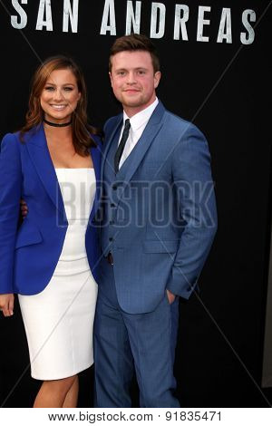 LOS ANGELES - MAY 26:  Romy Poulier, Hugo Johnstone-Burt at the