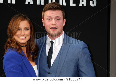LOS ANGELES - MAY 26:  Hugo Johnstone-Burt, Romy Poulier at the