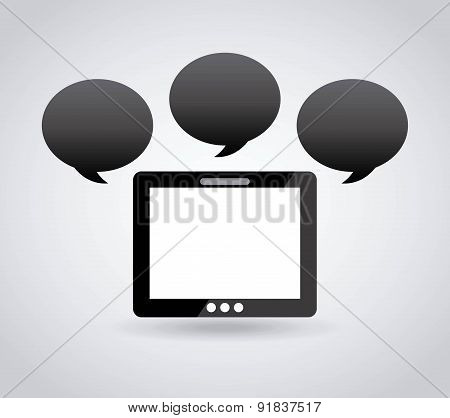 Bubble design over gray background vector illustration
