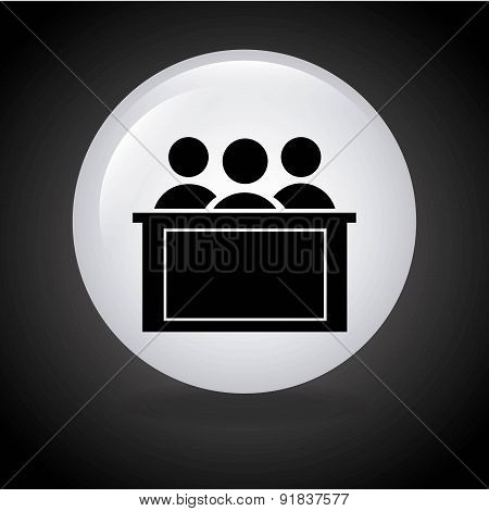 Law design over black background vector illustration