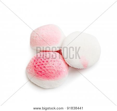 round candy isolated on white background