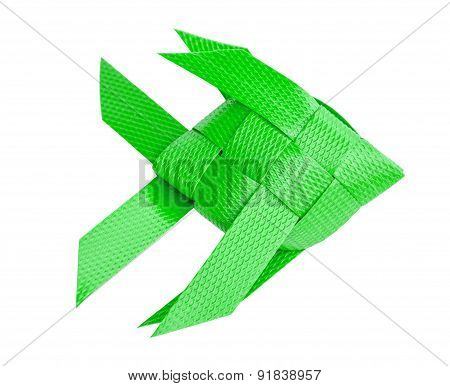 Plastic Recycle To Fish Weave For Kids Toy. Isolated On White Ba