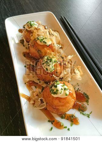 Creamy Octopus Balls Japanese Cuisine