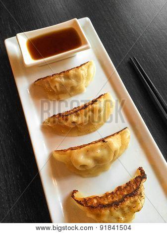 Pan-fried Dumplings Japanese Cuisine