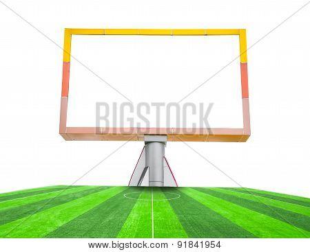 Blank Billboard On Field Soccer.