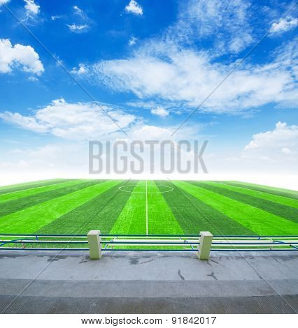 Soccer Field And Blue Sky