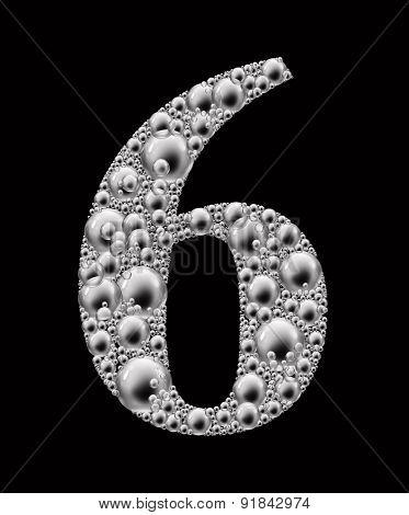 figure 6 bubble font