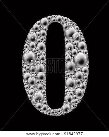 figure zero bubble font