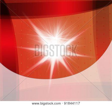 Orange backgroud with burst light