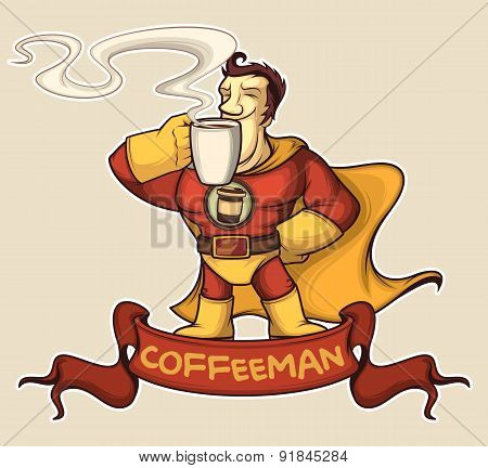 Superhero Coffee-man