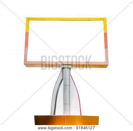 Blank Billboard Isolated On White Background For Your Advertisement.