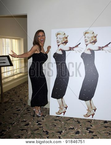 LOS ANGELES - MAY 27:  Chrystee Pharris at the Missing Marilyn Monroe Images Unveiled at the Hollywood Museum on May 27, 2015 in Los Angeles, CA