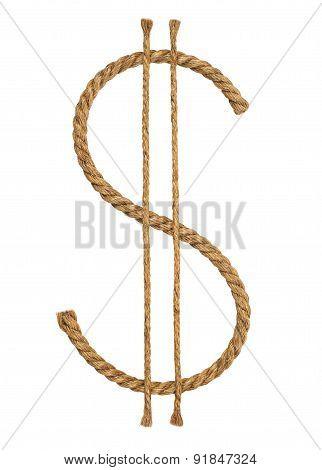 Manila Rope. Icon Dolar.