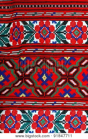Fragment Of Traditional Ornament On  Belorussian Towel