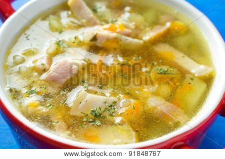 Soup Broth With Bacon