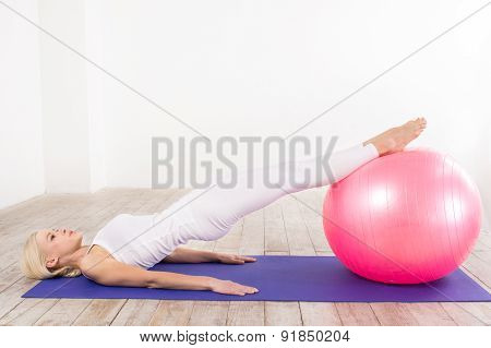 Fitness concept with young sporty woman