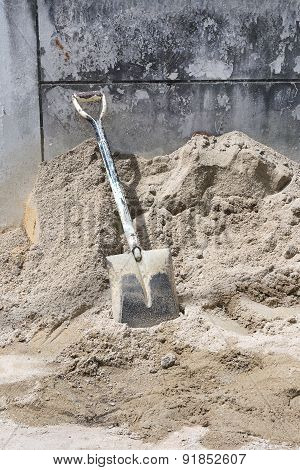 Shovel On Sand.