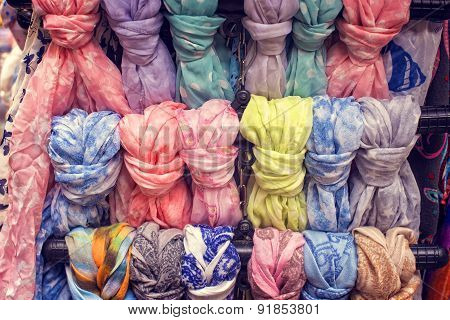 Colorful scarfs for sale