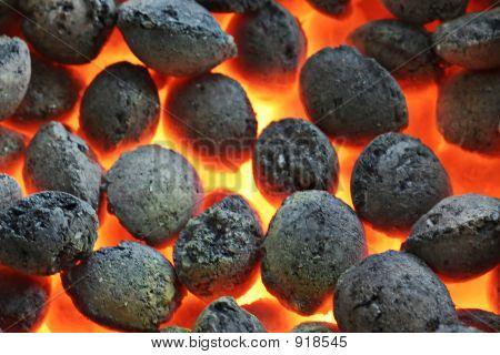 Quema carbón Cloase Up