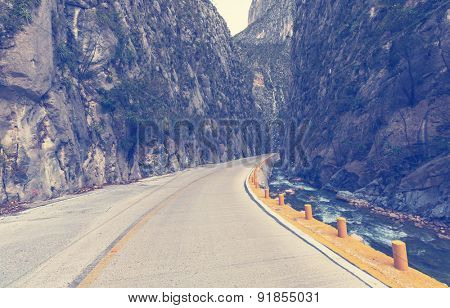 road in canyon