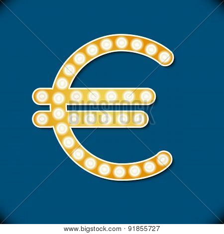 Vector Reflector Light Euro Symbol