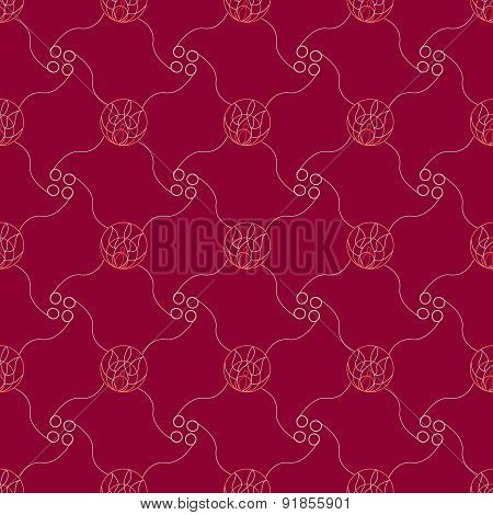 Lineart Ornamental Geometric Pattern
