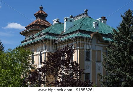 Ancient Mansion Against The Blue Sky, A  Summer