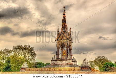 The Albert Memorial In Kensington Gardens - London