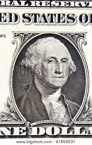 George Washington on American one dollar banknote