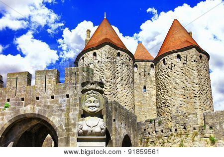 Carcassonne -biggest town-fortress, France.