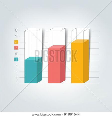 3D Chart, Graph, Bar.