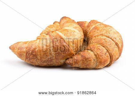 Croissant Over White Background