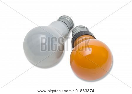 Red And Matte Light Bulb