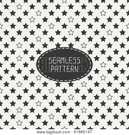 Geometric seamless stars pattern. Wrapping paper. Paper for scrapbook. Tiling. Beautiful vector illu