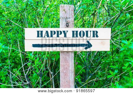 Happy Hour Directional Sign