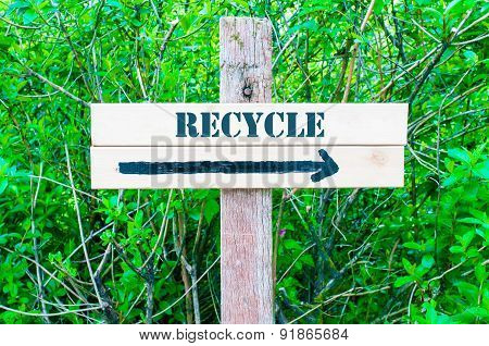 Recycle Directional Sign