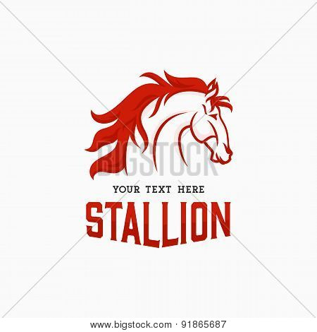 The Stallion Logo concept. Horse Head Icon